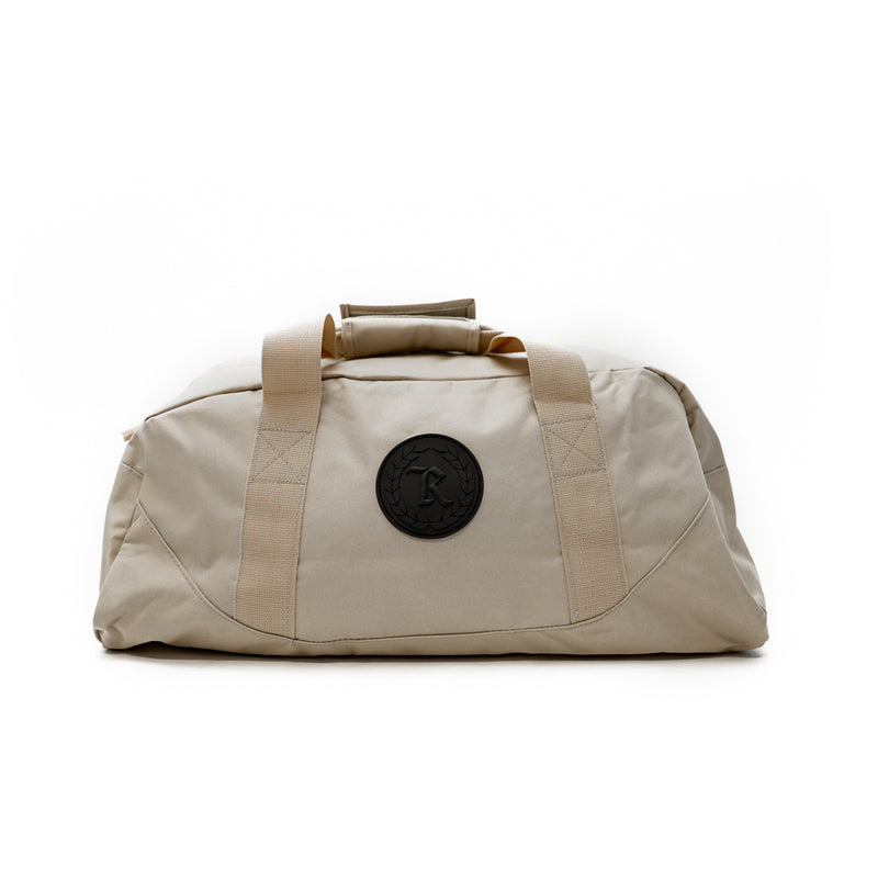Always Represent PVC Silicone Rubber Patch Duffel Bag [KHAKI X BLACK]