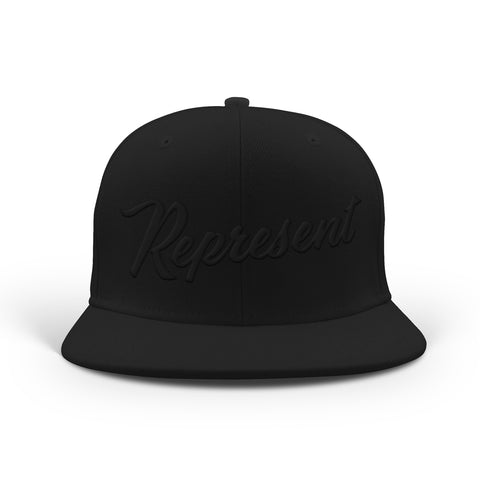 Baseball Script Snapback [BLACKED OUT]