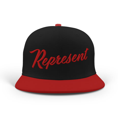 Baseball Script Snapback [BLACK/RED]