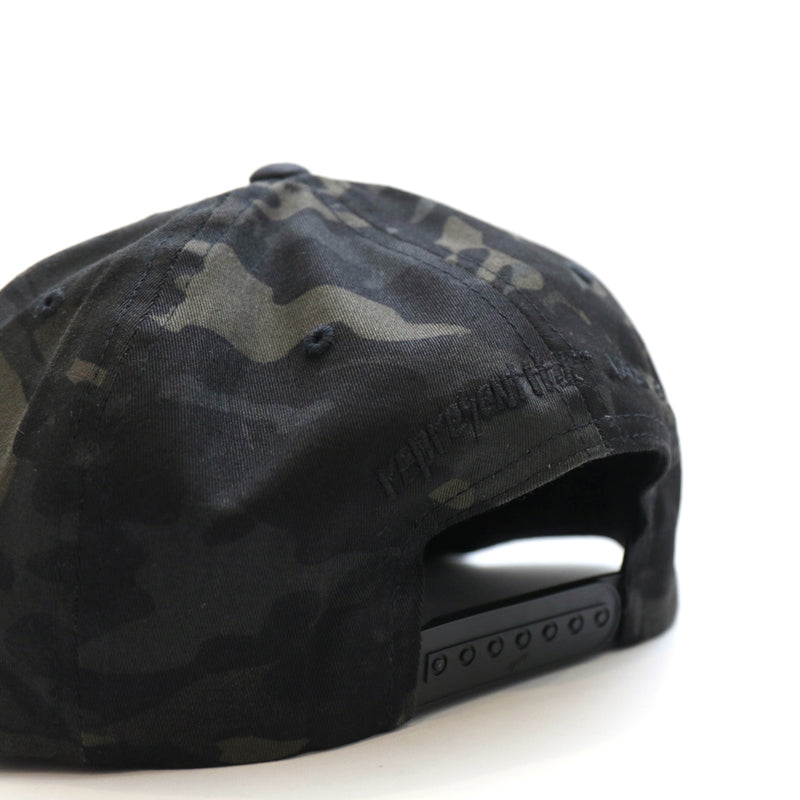 Never Established Patch Classic Snapback [BLACK MULTI CAMO]