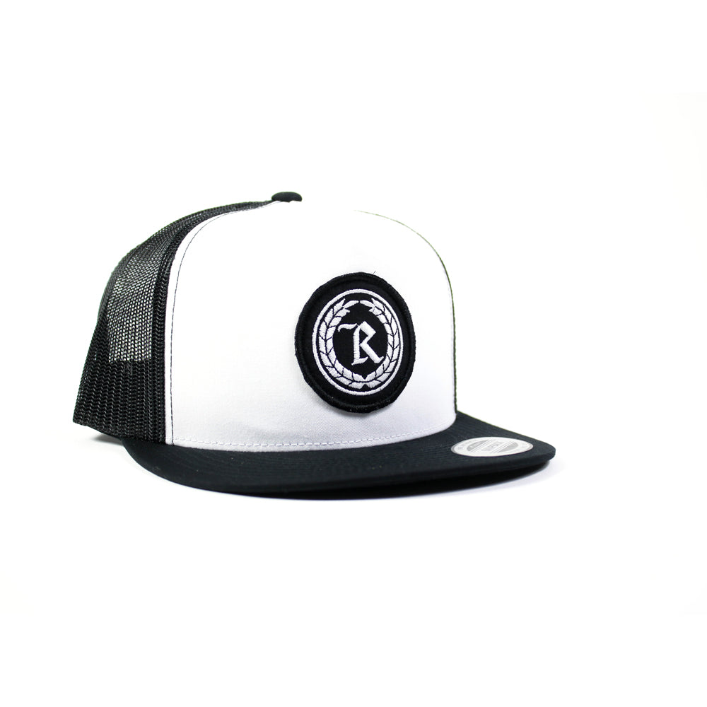Never Established Patch Trucker Hat [BLACK X WHITE]