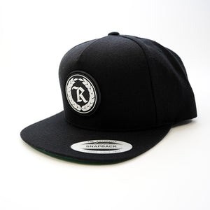 PVC Rubber Silicone Patch Embroidered Classic Snapback [BLACK]