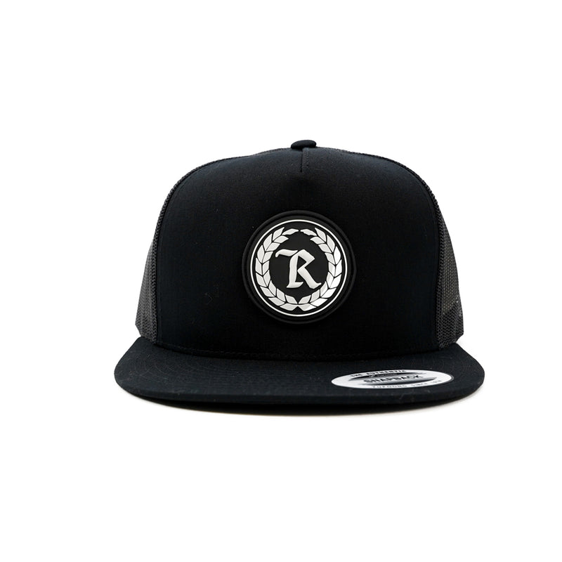 PVC Rubber Silicone Patch Trucker Hat [BLACK]