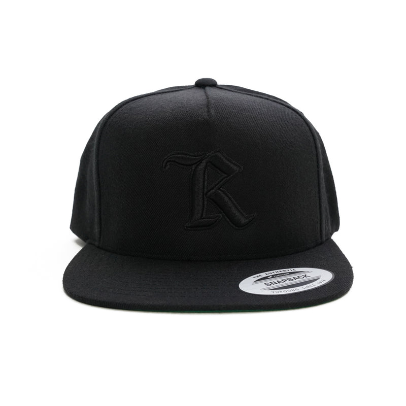 Real Medieval Embroidered X HD Imprint Patch Classic Snapback [BLACK X BLACK] LIMITED EDITION