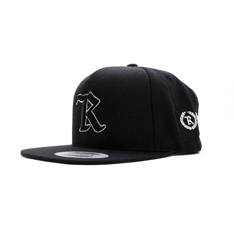 Real Medieval Embroidered X HD Imprint Patch Classic Snapback [BLACK X WHITE] LIMITED EDITION