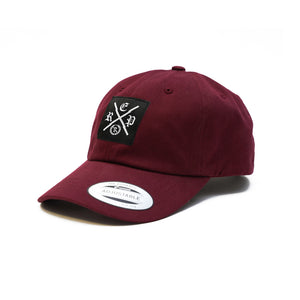 Made X The Real Woven Classic Dad Hat [BURGUNDY] LIMITED EDITION