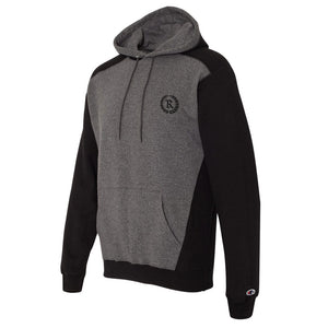 REP X Champion Logo Pullover Hoodie [CHARCOAL/BLACK]