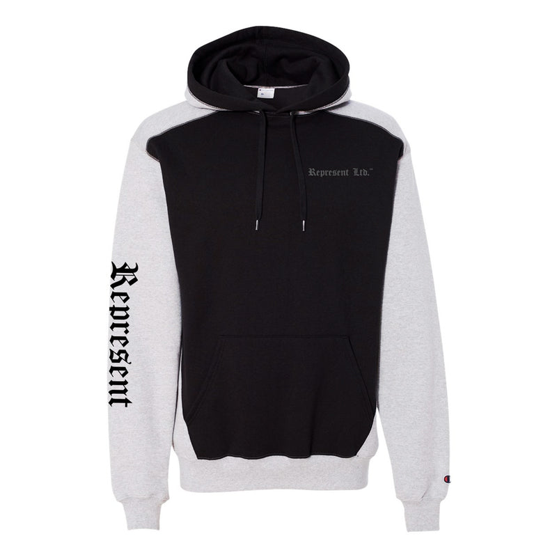 Represent X Champion Original Double Dry Pullover Hoodie [STEEL/BLACK]