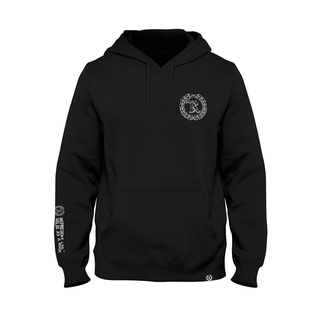 Solid As A Rock Pullover Hoodie [BLACK]