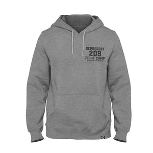 Stockton Fight Camp Premium Midweight Hoodie [HEATHER GRAY]