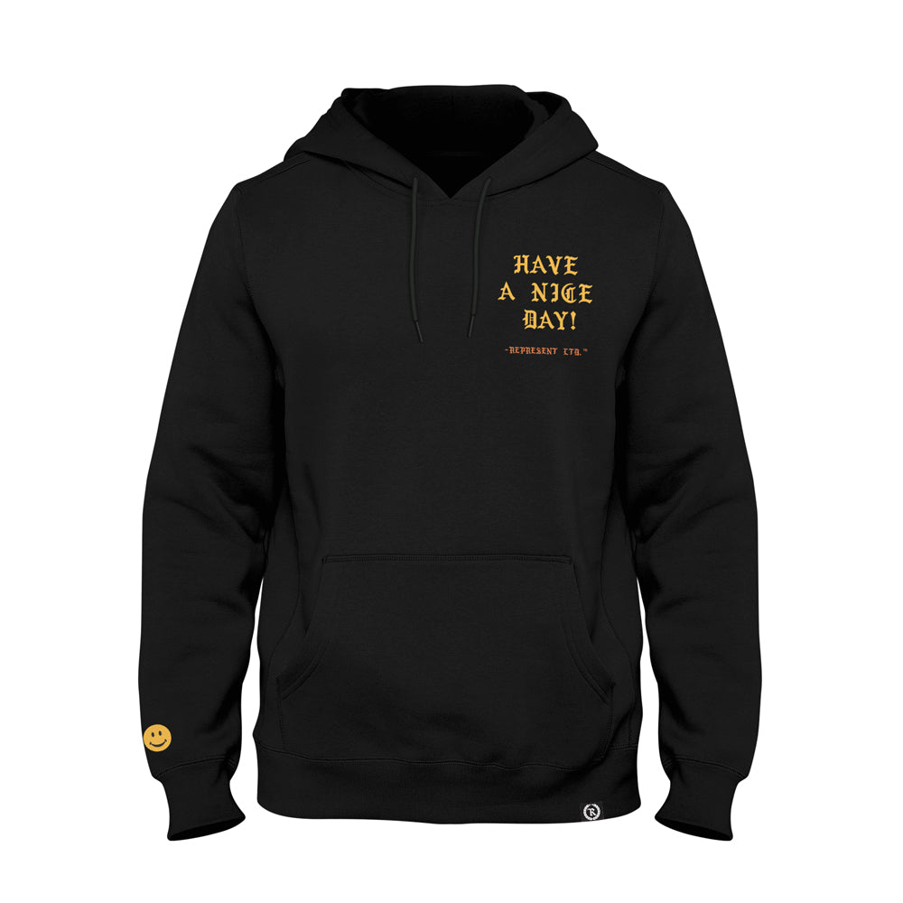 Have A Nice Day! Heavyweight Pullover Hoodie [BLACK]