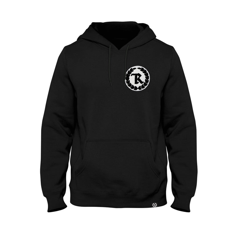 Original Gang Chenille Patch Varsity Heavyweight Pullover Hoodie [BLACK]