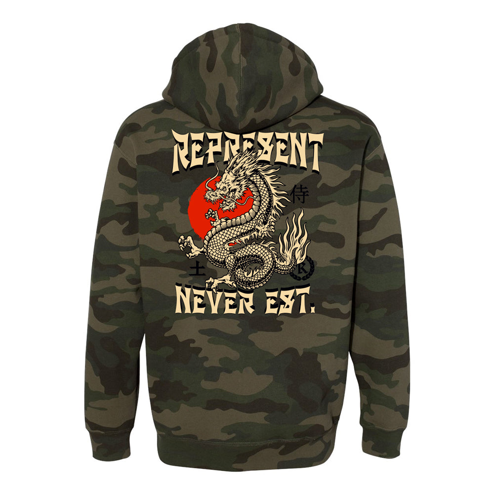 Enter The Dragon Heavyweight Pullover Hoodie [FOREST CAMO] SPECIAL EDITION