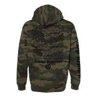 Always Represent PVC Silicone Patch HD Heavyweight Pullover Hoodie [FOREST CAMO] COLLECTOR'S EDITION