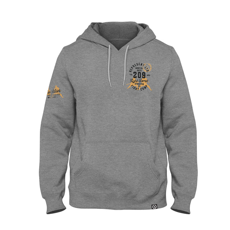 Stockton 209 Fight Camp 2021 Premium Midweight Hoodie [HEATHER GRAY] FIGHT EDITION