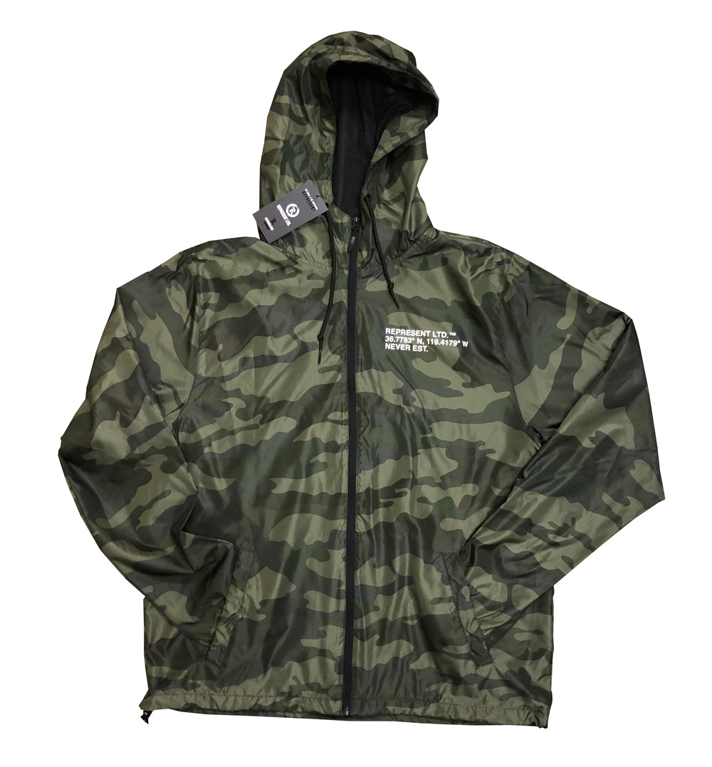 LAT X LONG CAMO Light Windbreaker Zip Jacket [FOREST CAMO]