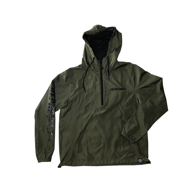 Bad Habits Light Windbreaker Pullover Jacket [MILITARY GREEN]