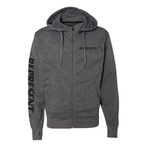 Bad Habits Poly-Tech Zip Hood Jacket [GUNMETAL HEATHER]