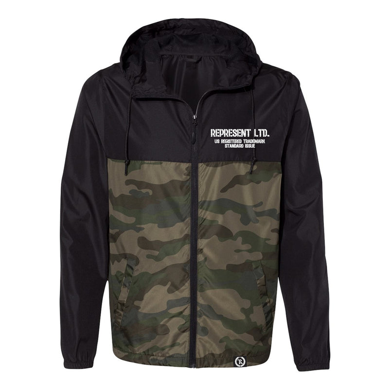 In The Trenches Light Windbreaker Pullover Jacket [BLACK X FCAMO]