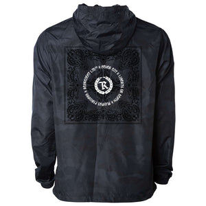 Liberty or Death Paisley Light Windbreaker Pullover Jacket [BLACK CAMO]