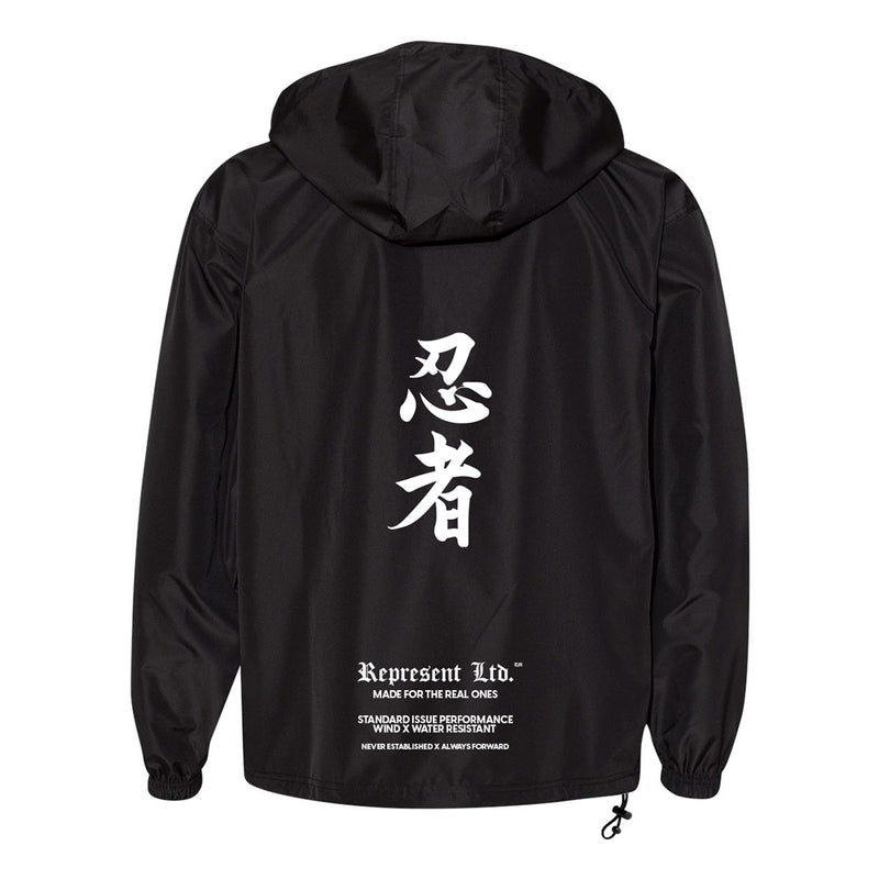 Ninja Original Anorak Wind X Water Resistant Hooded Qtr Zip Jacket [BLACK]
