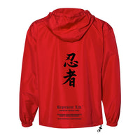 Ninja Original Anorak Wind X Water Resistant Hooded Qtr Zip Jacket [RED]