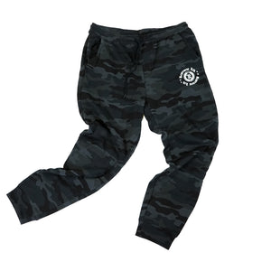 PVC Rubber Silicone Patch w/ HD Imprint Joggers [BLACK CAMO]