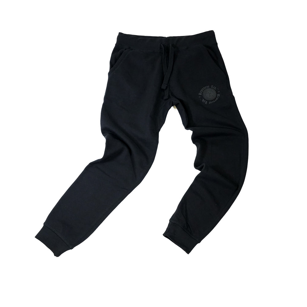 PVC Rubber Silicone Patch w/ HD Imprint Joggers [BLACK X BLACK]