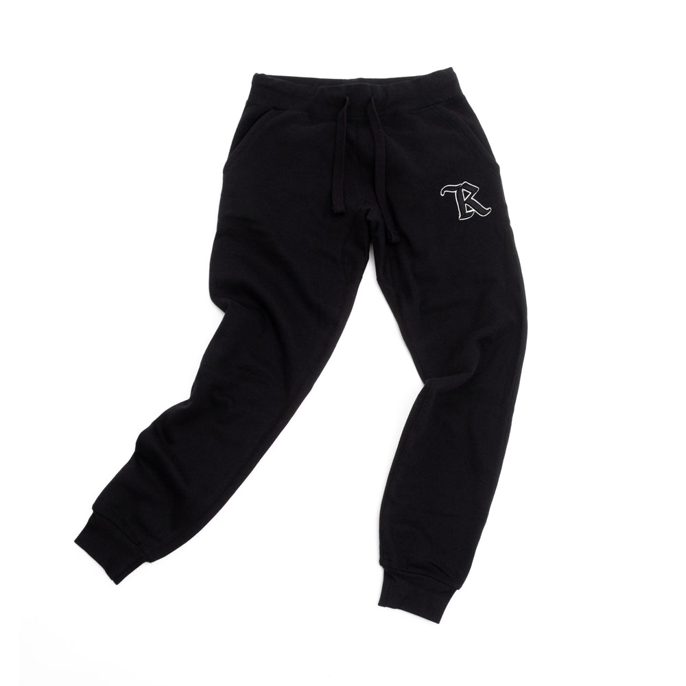 Medieval 3D Puff Embroidered Joggers [BLACK]
