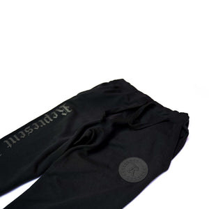 Always Represent PVC Rubber Silicone Patch Signature Joggers [BLACK X BLACK] LIMITED EDITION
