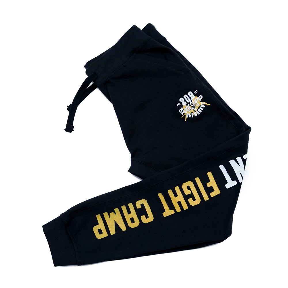 Stockton 209 Fight Camp Embroidered Signature Joggers [BLACK] FIGHT EDITION