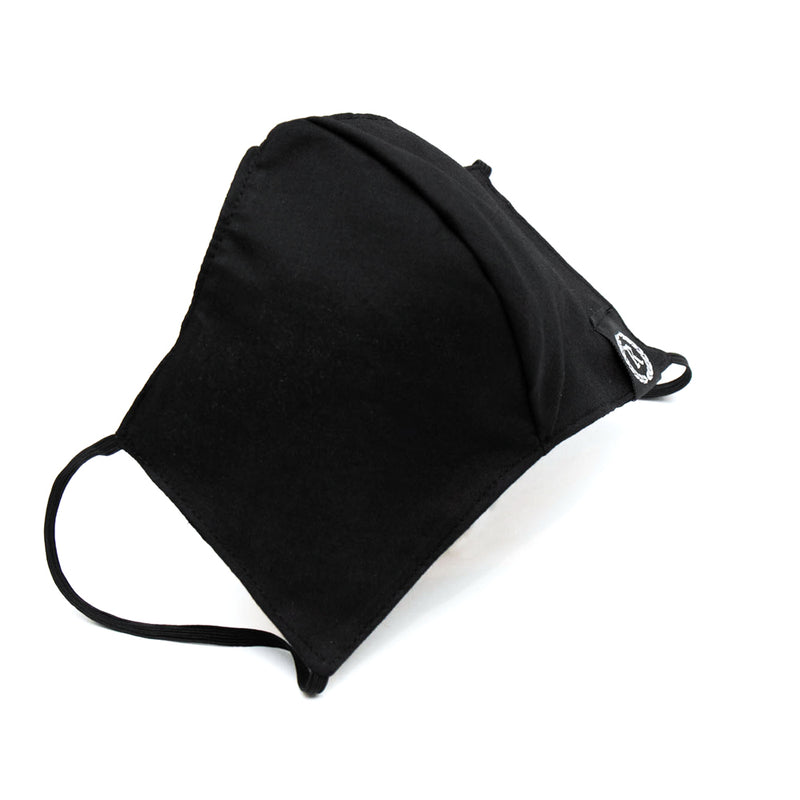Woven Label Cloth Sanitary Mask [BLACK]