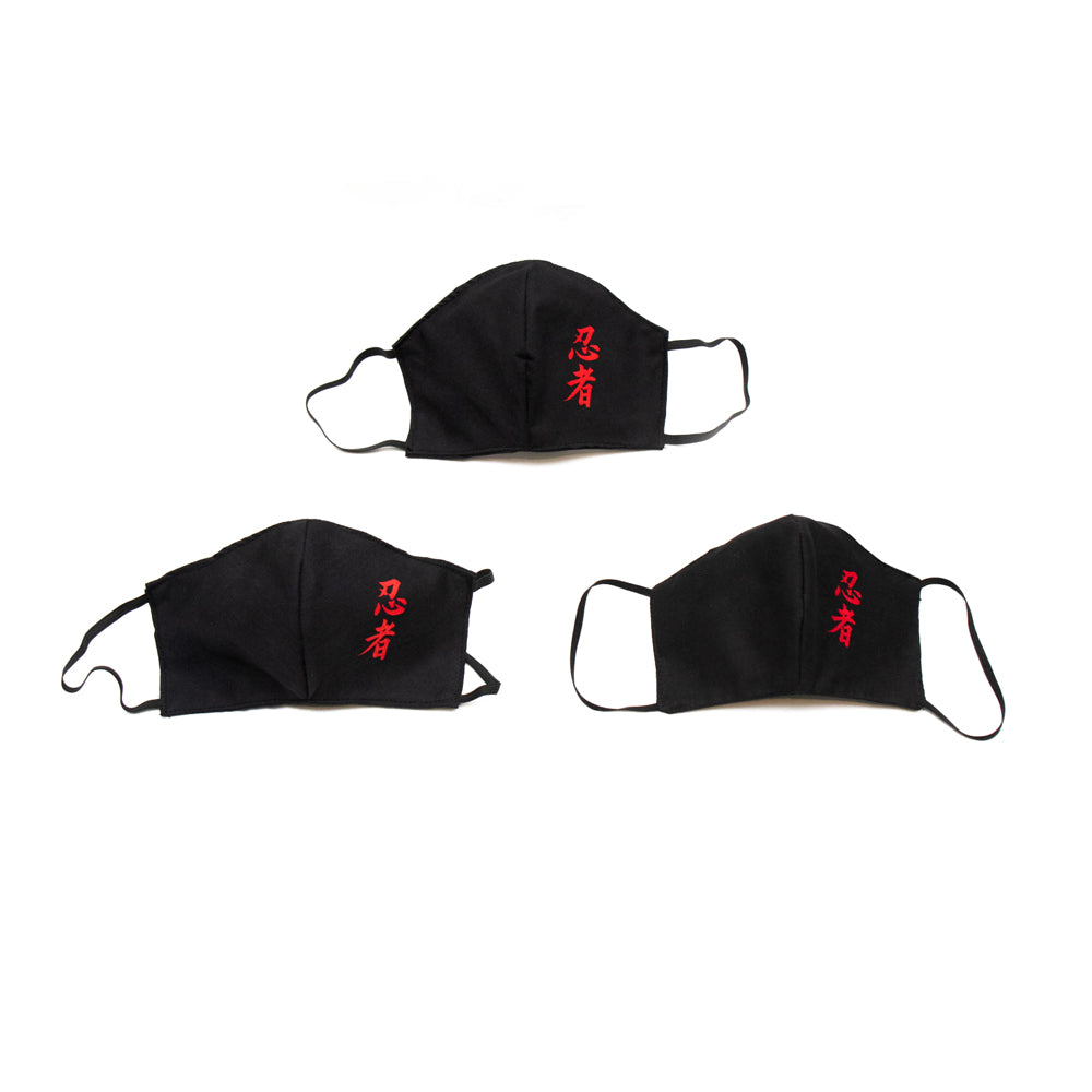 Real Ninjas Cloth Sanitary Mask 3-PACK [BLACK]