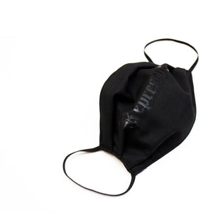 NEW Original Classic Full Front Cloth Sanitary Mask 3-PACK [BLACK on BLACK]
