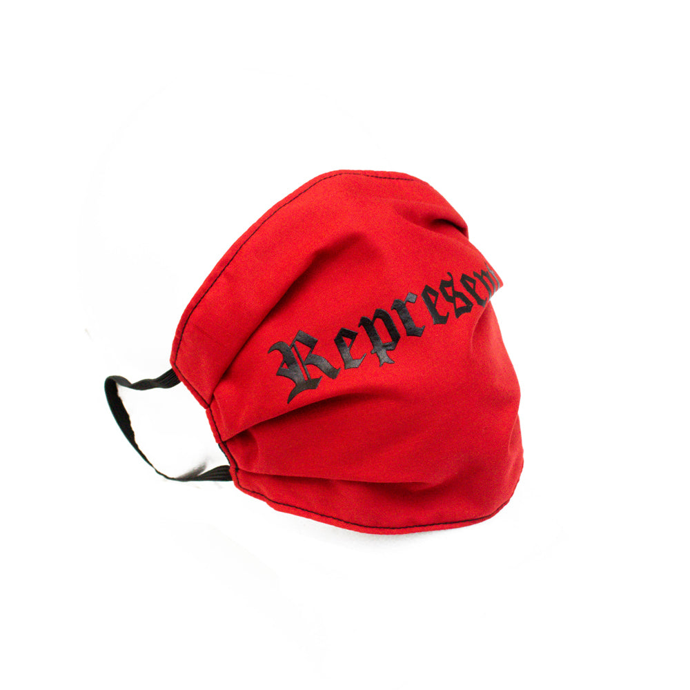 NEW Original Classic Full Front Cloth Sanitary Mask [RED]