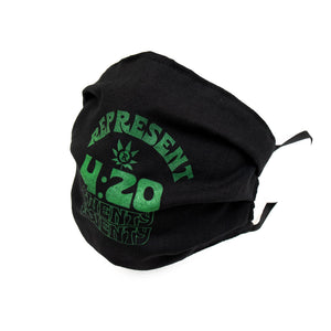 4:20 Twenty Twenty Capsule Full Front Cloth Sanitary Mask [BLACK]