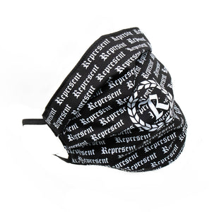 Original Classic All Over Print Full Front Cloth Sanitary Mask [BLACK X WHITE]