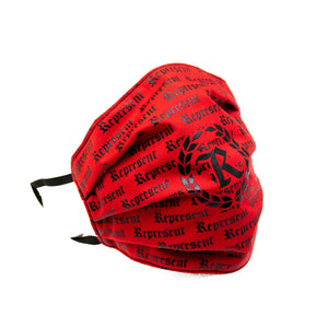 Original Classic All Over Print Full Front Cloth Sanitary Mask [RED]