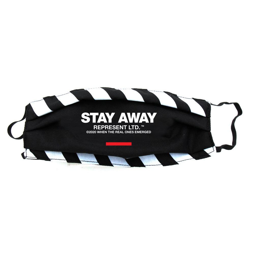 Stay Away Full Front Cloth Sanitary Mask [BLACK]