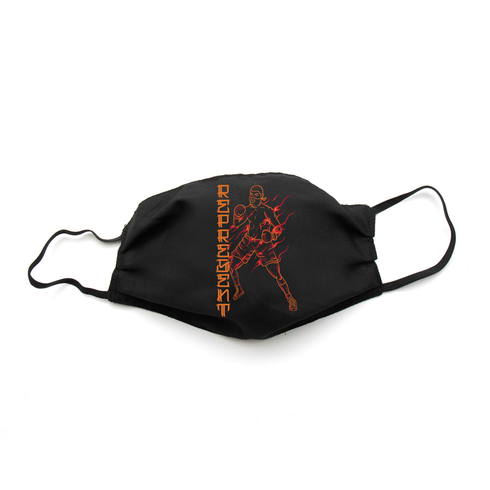 The Fighting Spirit Full Front Cloth Sanitary Mask [BLACK]