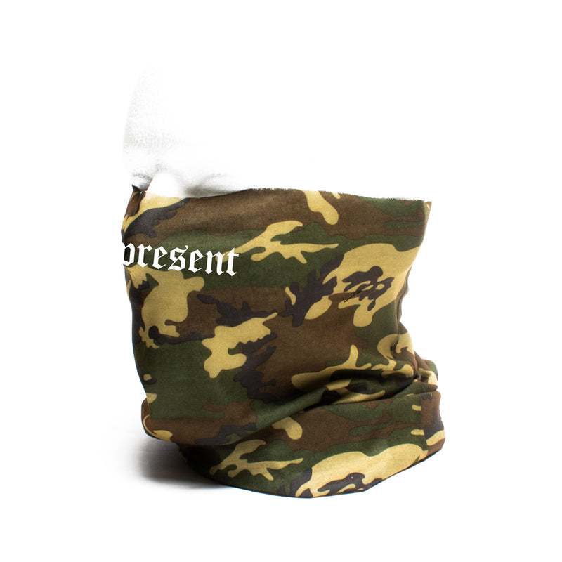 Original Classic Text Gaiter Neck Covering & Face Mask [FOREST CAMO]