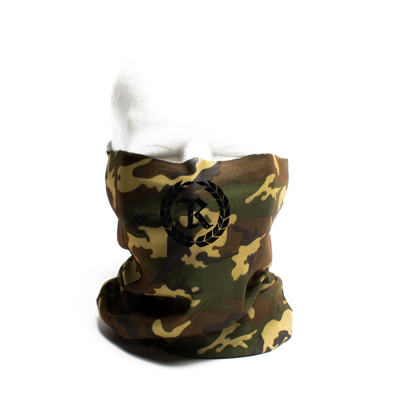 Black Gang Camo Gaiter Neck Covering & Face Mask [FOREST CAMO]