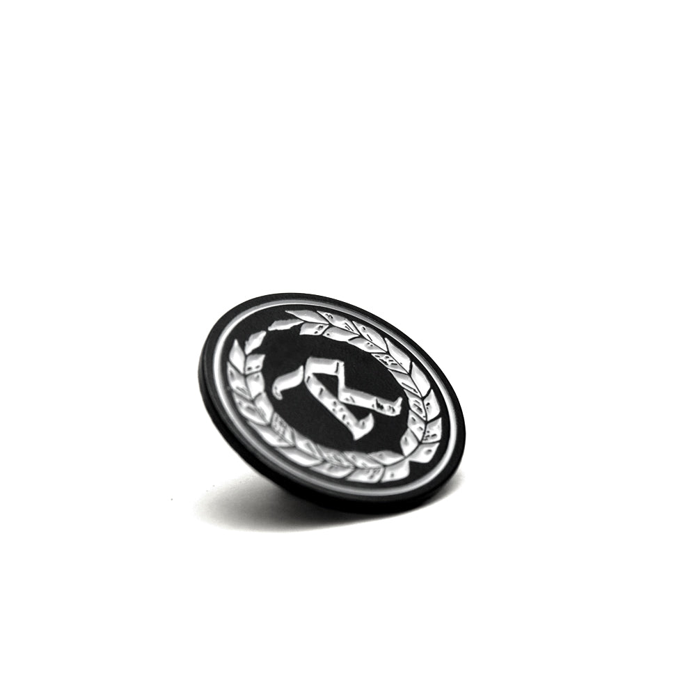 Never Established Monogram Soft Enamel Pin  [BLACK] COLLECTOR'S EDITION