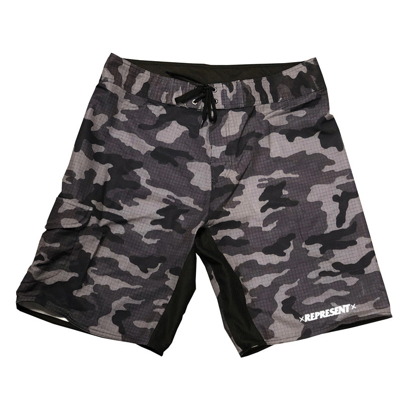 Bad Habits Blue Camo Board Shorts