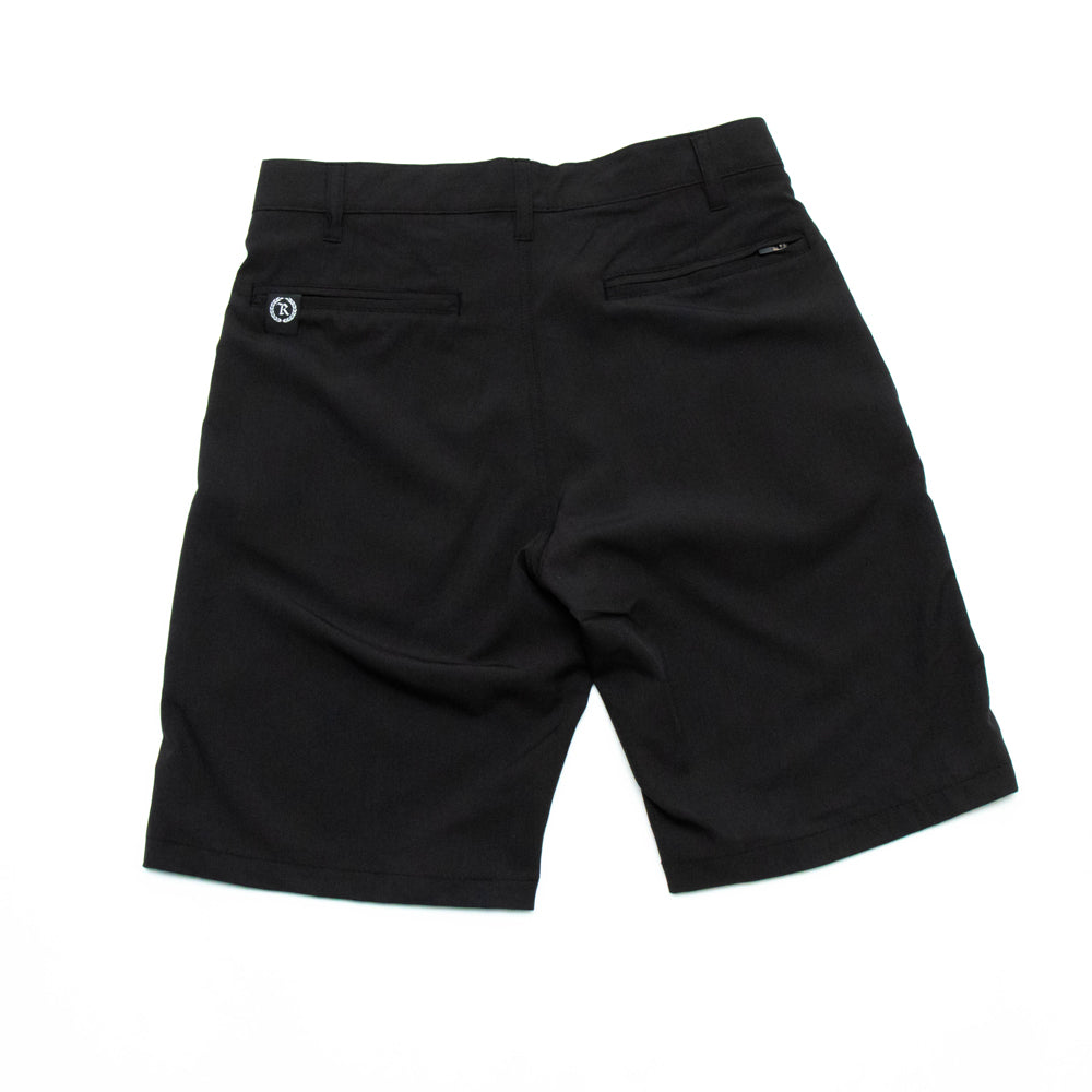 Black Gang Hybrid Stretch Shorts [BLACK HEATHER]