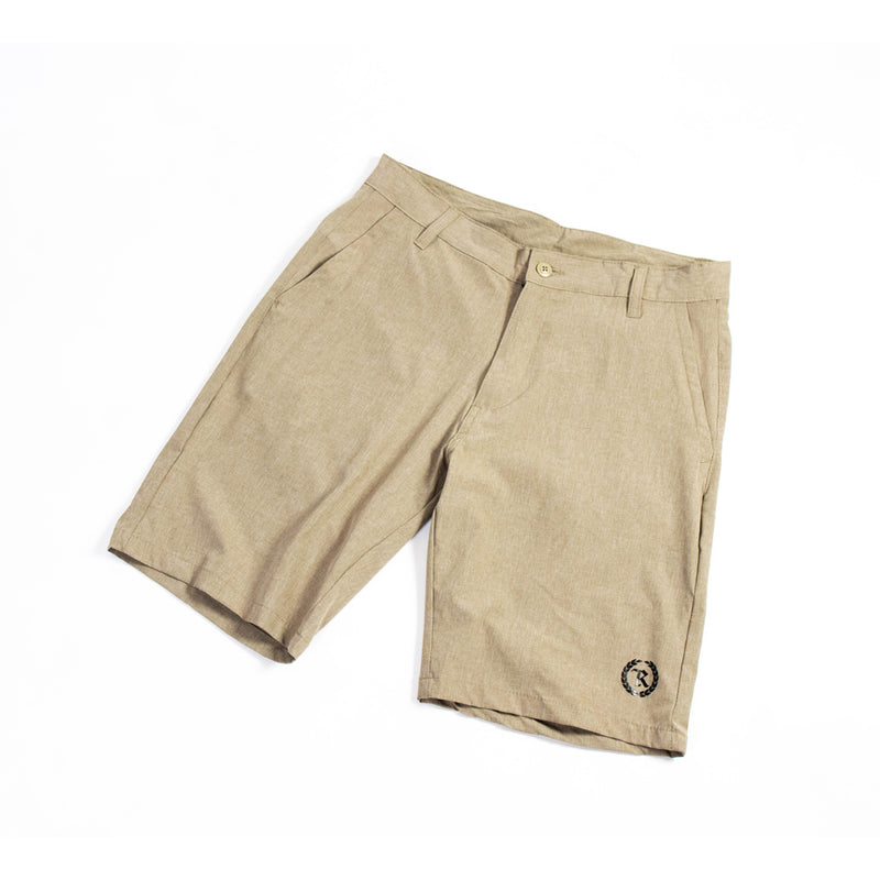 Black Gang Hybrid Stretch Shorts [KHAKI]