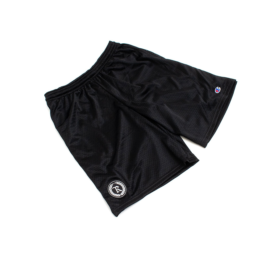 Represent X Champion Patch Mesh Shorts [BLACK]