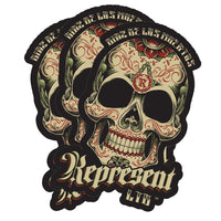 "Diaz De Los Muertos Weatherproof Bumper Sticker 5.5"" x 4.25"" Die-Cut [BLACK] LIMITED EDITION"