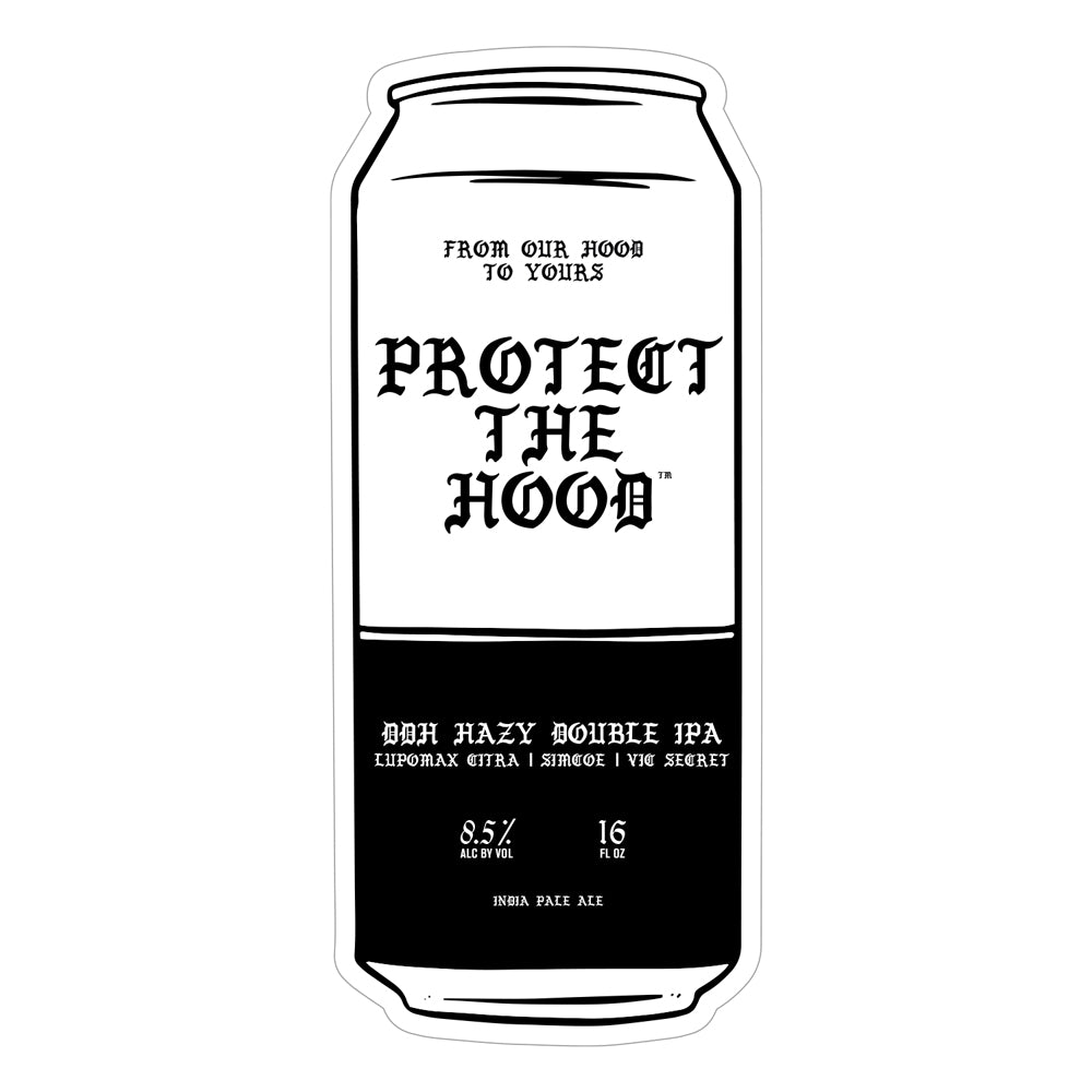 "Protect The Hood Beer Collab Bumper Sticker 6.5"" x 3"" [KISS CUT] SPECIAL EDITION"