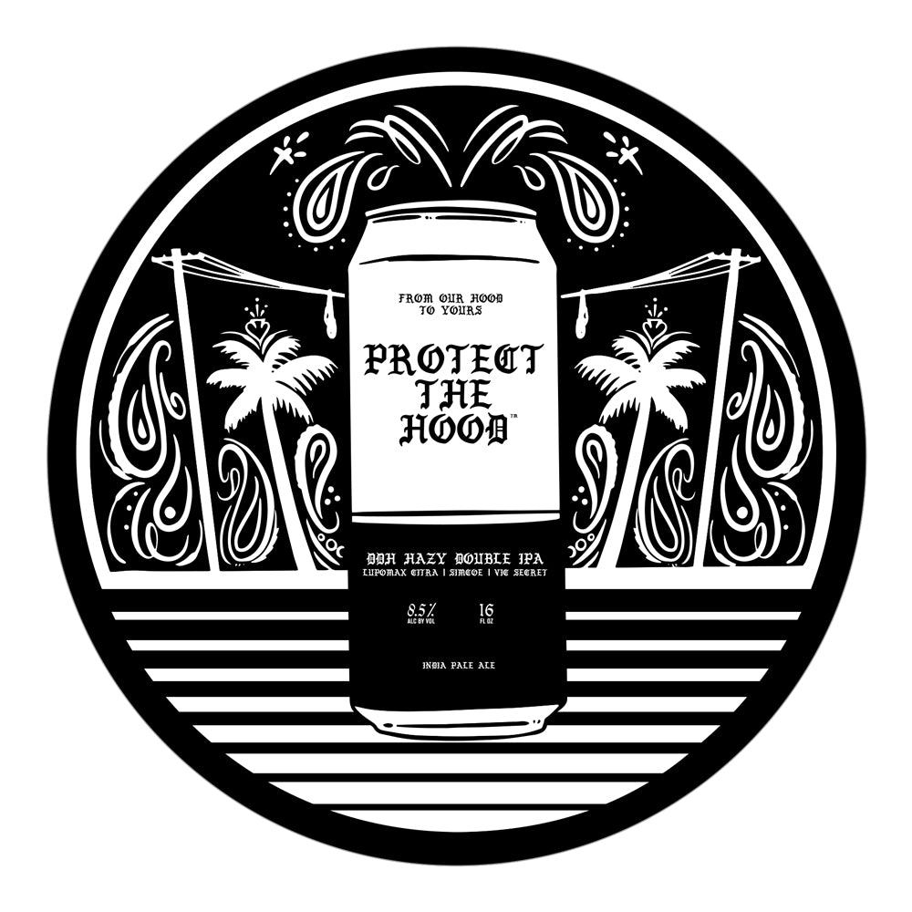 "Protect The Hood Beer Collab Bumper Sticker 6"" x 6"" [KISS CUT] SPECIAL EDITION"